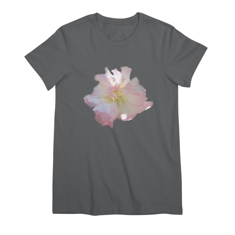 Pink Ruffle Hibiscus Women's T-Shirt by ❁Art Peace Designs❁