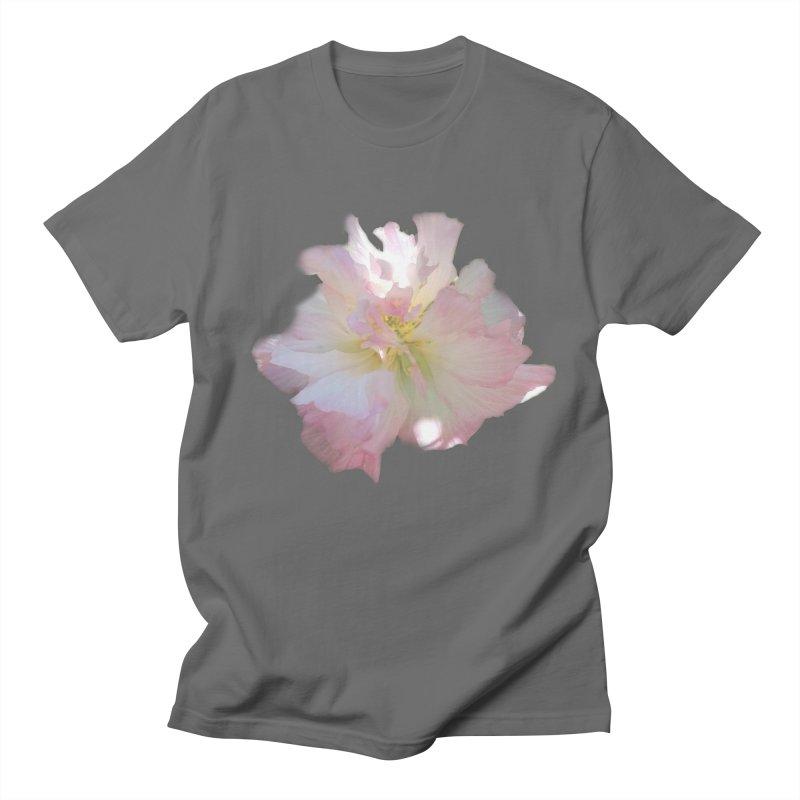 Pink Ruffle Hibiscus Men's T-Shirt by ❁Art Peace Designs❁
