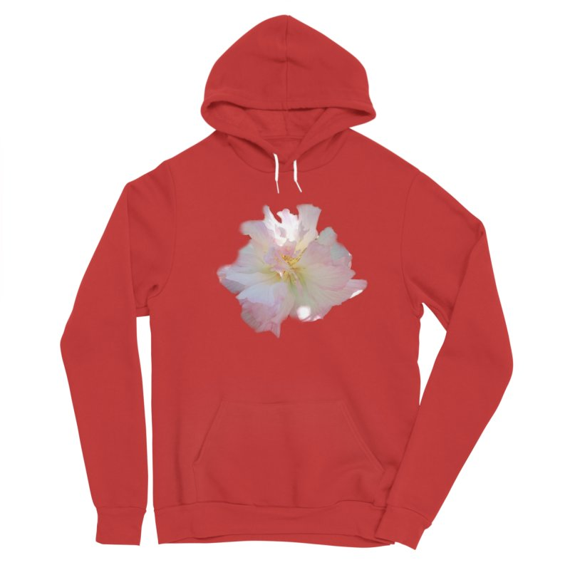 Pink Ruffle Hibiscus Men's Pullover Hoody by ❁Art Peace Designs❁