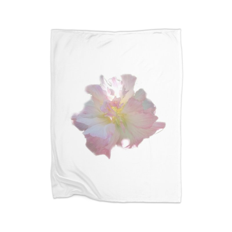 Pink Ruffle Hibiscus Home Blanket by ❁Art Peace Designs❁