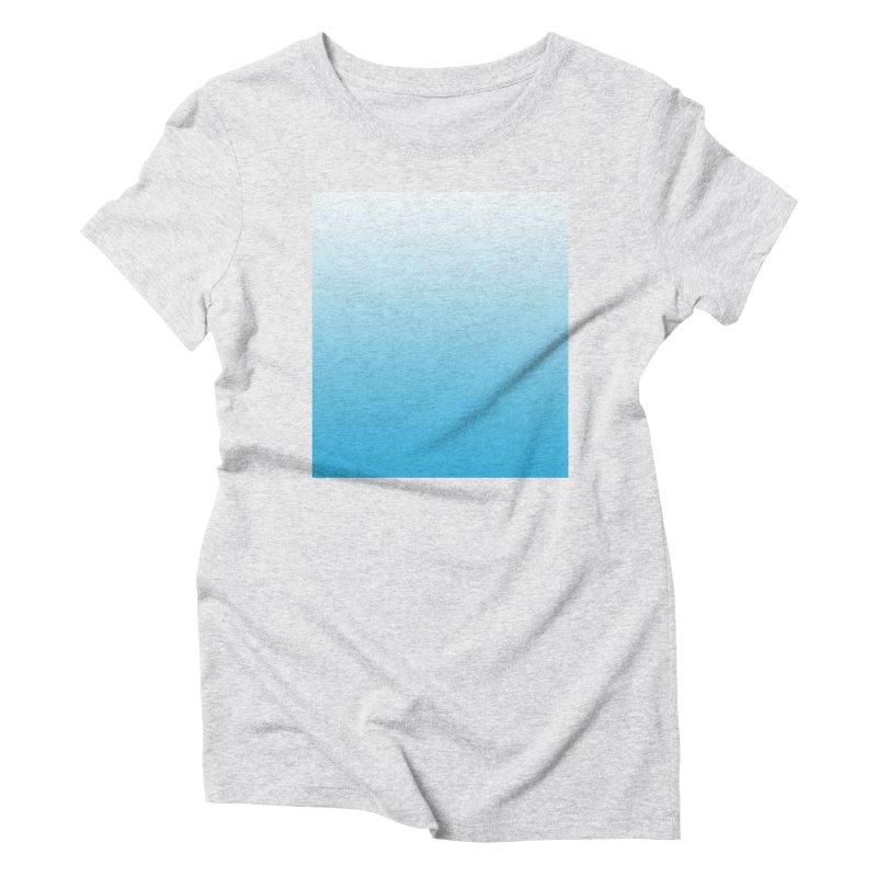 Aqua Ombre Women's T-Shirt by ❁Art Peace Designs❁