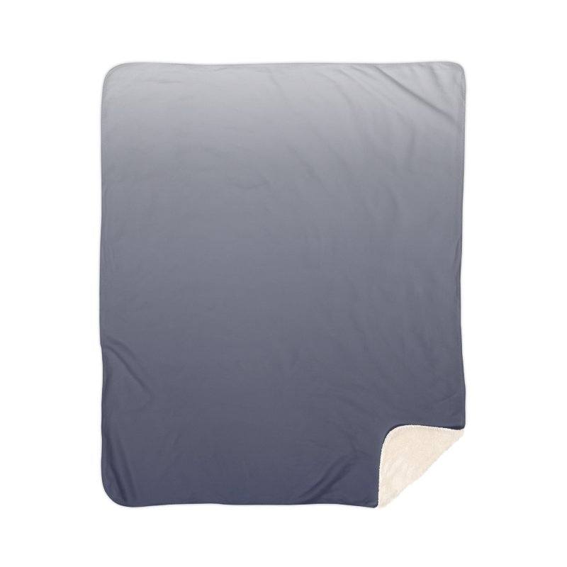 Navy Ombre Home Blanket by ❁Art Peace Designs❁