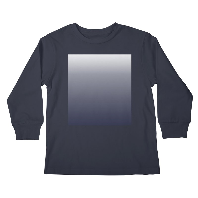 Navy Ombre Kids Longsleeve T-Shirt by ❁Art Peace Designs❁