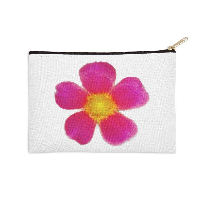 Purslane Toucan Fuchsia Accessories Zip Pouch by ❁Art Peace Designs❁