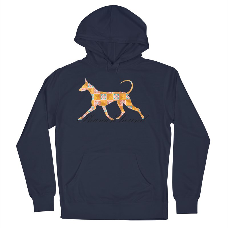 Pharaoh hound Men's French Terry Pullover Hoody by ArtPharie's Artist Shop