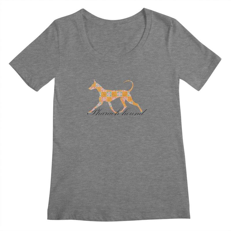 Pharaoh hound Women's Scoopneck by ArtPharie's Artist Shop