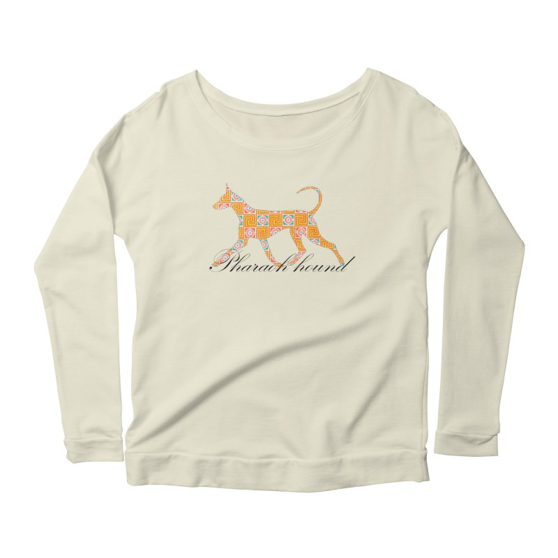 Pharaoh hound Women's Scoop Neck Longsleeve T-Shirt by ArtPharie's Artist Shop
