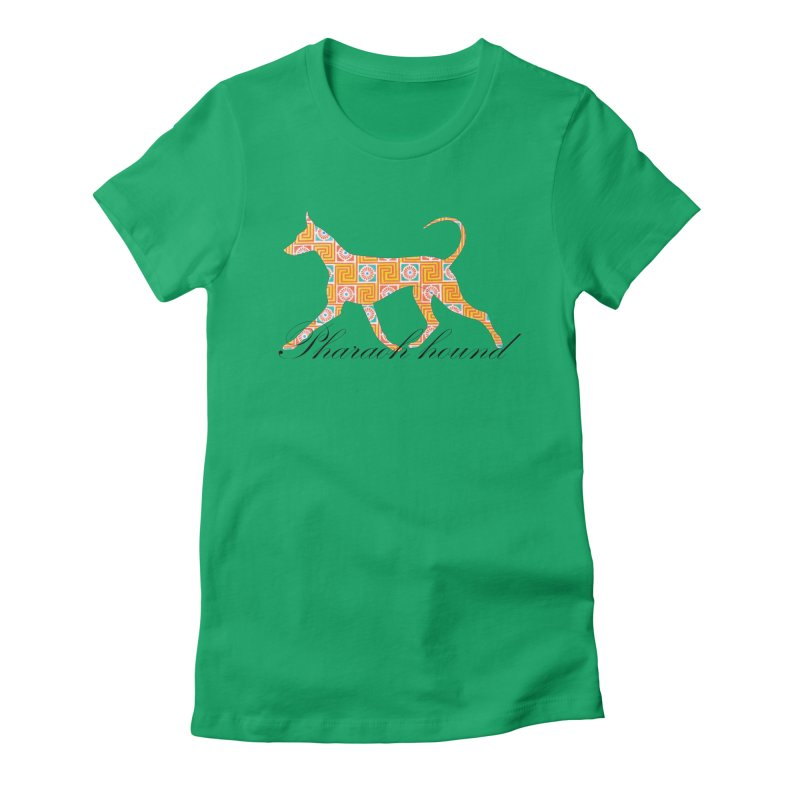 Pharaoh hound Women's Fitted T-Shirt by ArtPharie's Artist Shop
