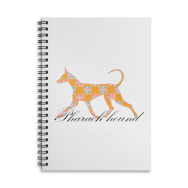 Pharaoh hound Accessories Lined Spiral Notebook by ArtPharie's Artist Shop