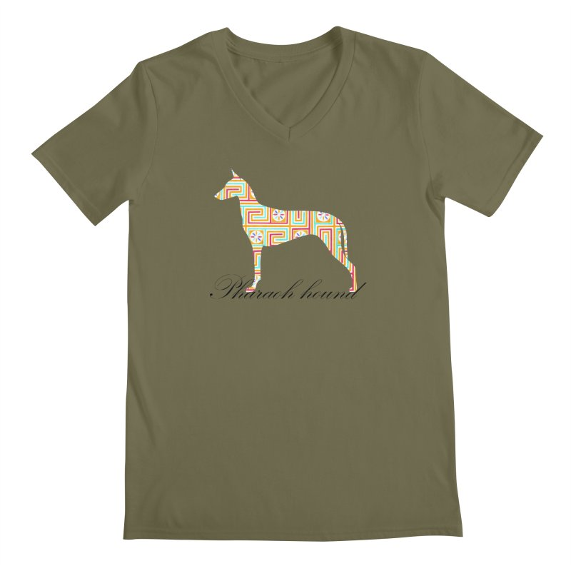 Pharaoh hound Men's Regular V-Neck by ArtPharie's Artist Shop