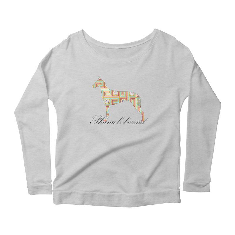 Pharaoh hound Women's Scoop Neck Longsleeve T-Shirt by ArtPharie's Artist Shop