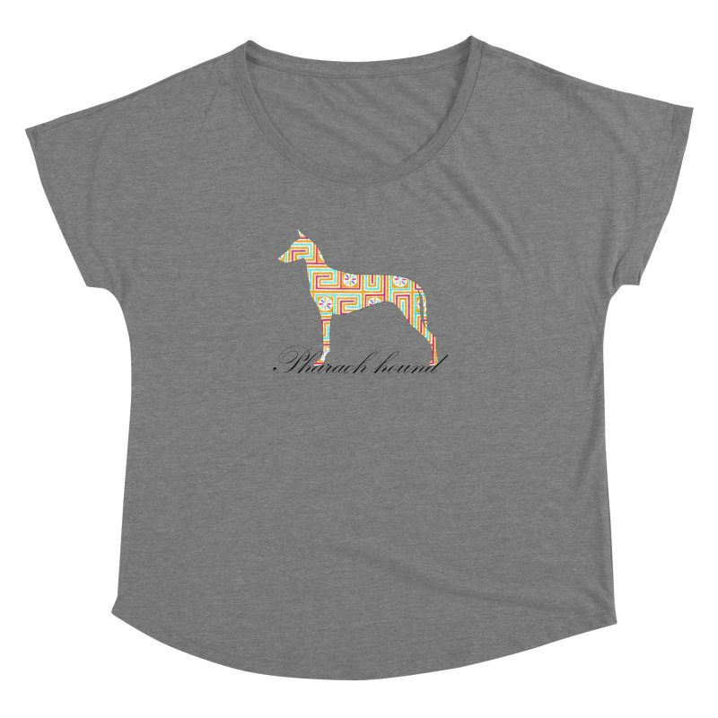 Pharaoh hound Women's Dolman Scoop Neck by ArtPharie's Artist Shop