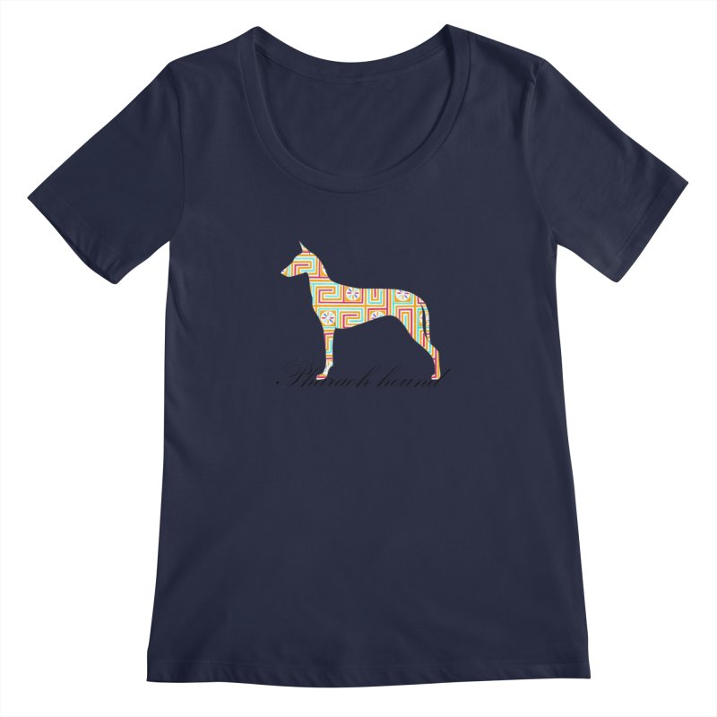 Pharaoh hound Women's Regular Scoop Neck by ArtPharie's Artist Shop