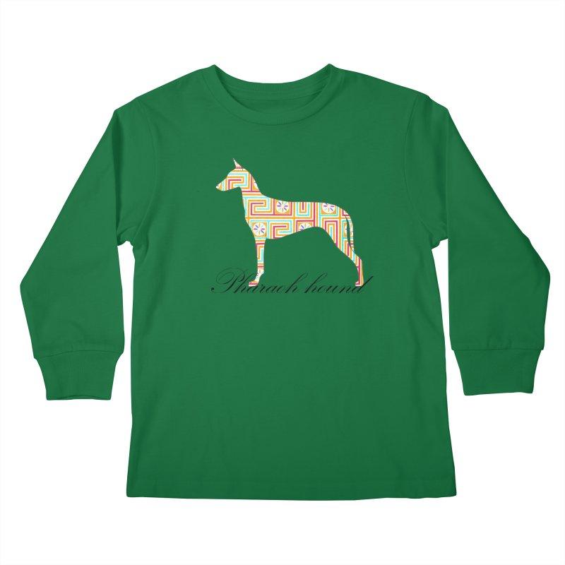 Pharaoh hound Kids Longsleeve T-Shirt by ArtPharie's Artist Shop