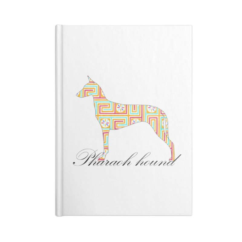 Pharaoh hound Accessories Lined Journal Notebook by ArtPharie's Artist Shop