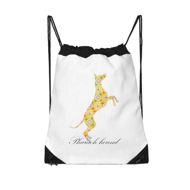 Pharaoh hound Accessories Drawstring Bag Bag by ArtPharie's Artist Shop