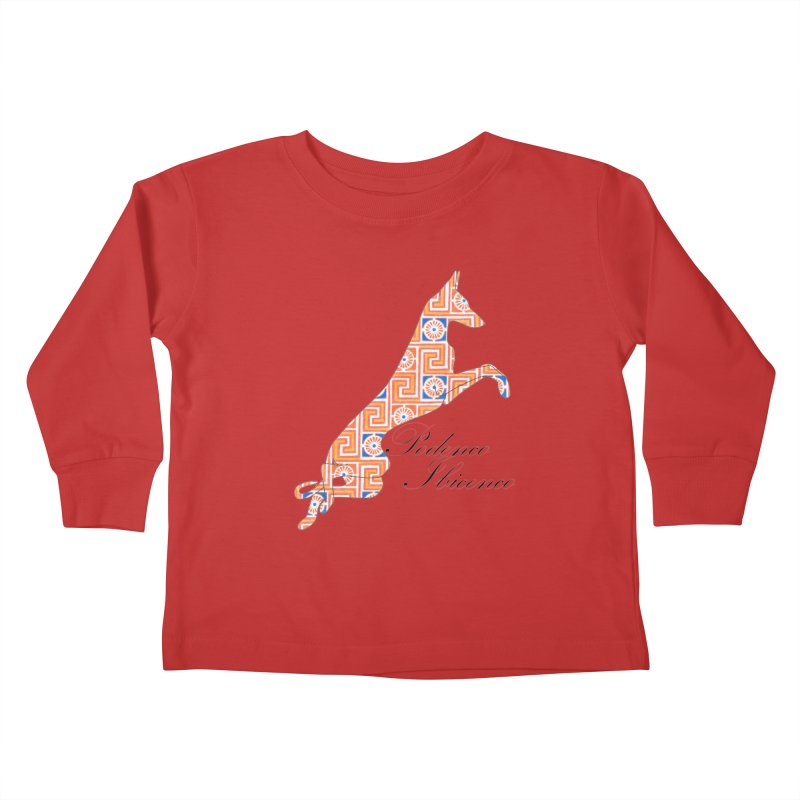 Ibizian hound Kids Toddler Longsleeve T-Shirt by ArtPharie's Artist Shop