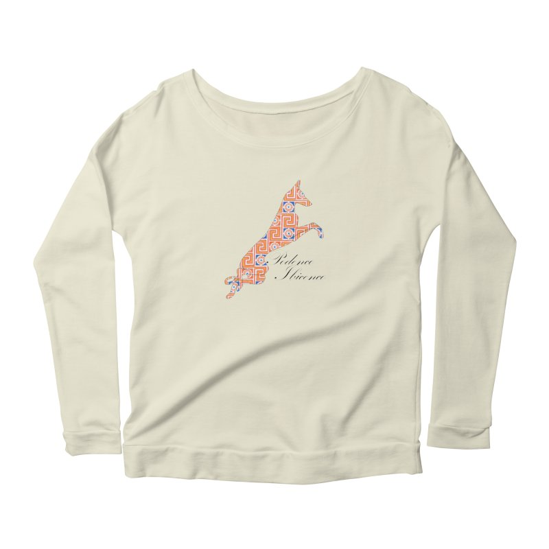 Ibizian hound Women's Scoop Neck Longsleeve T-Shirt by ArtPharie's Artist Shop