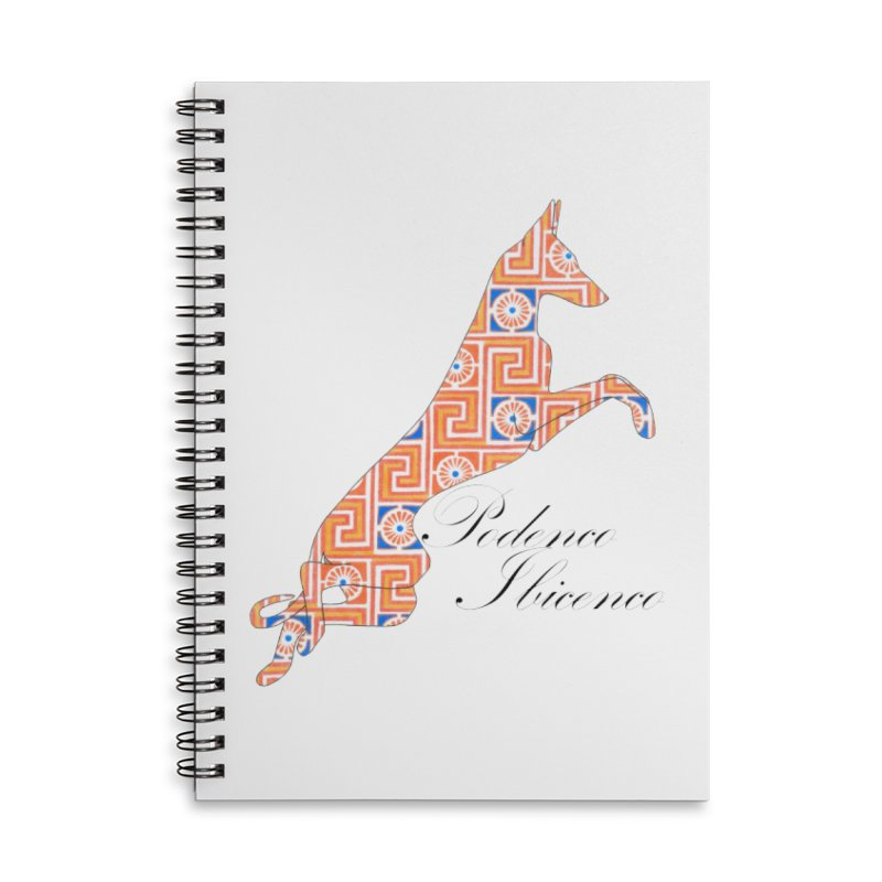 Ibizian hound Accessories Lined Spiral Notebook by ArtPharie's Artist Shop