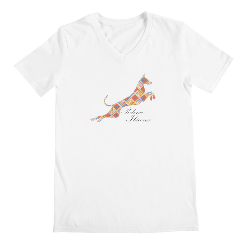 Ibizian hound Men's Regular V-Neck by ArtPharie's Artist Shop