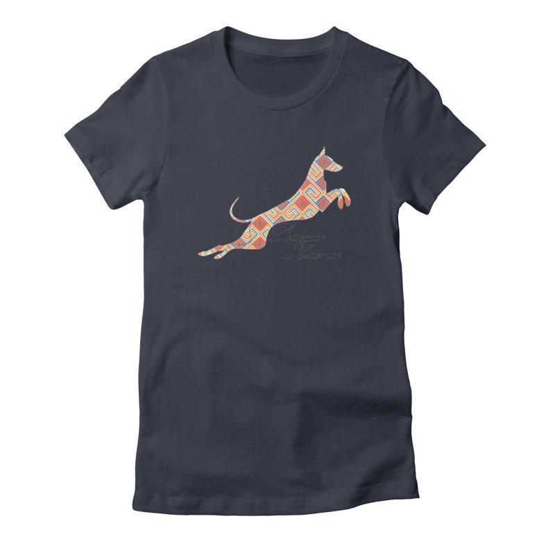 Ibizian hound Women's Fitted T-Shirt by ArtPharie's Artist Shop