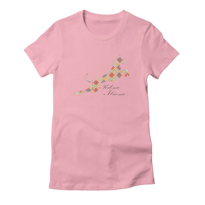 Ibizian hound Women's Fitted T-Shirt by ArtPharie's Artist Shop