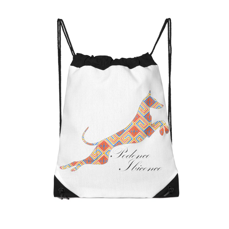 Ibizian hound Accessories Drawstring Bag Bag by ArtPharie's Artist Shop