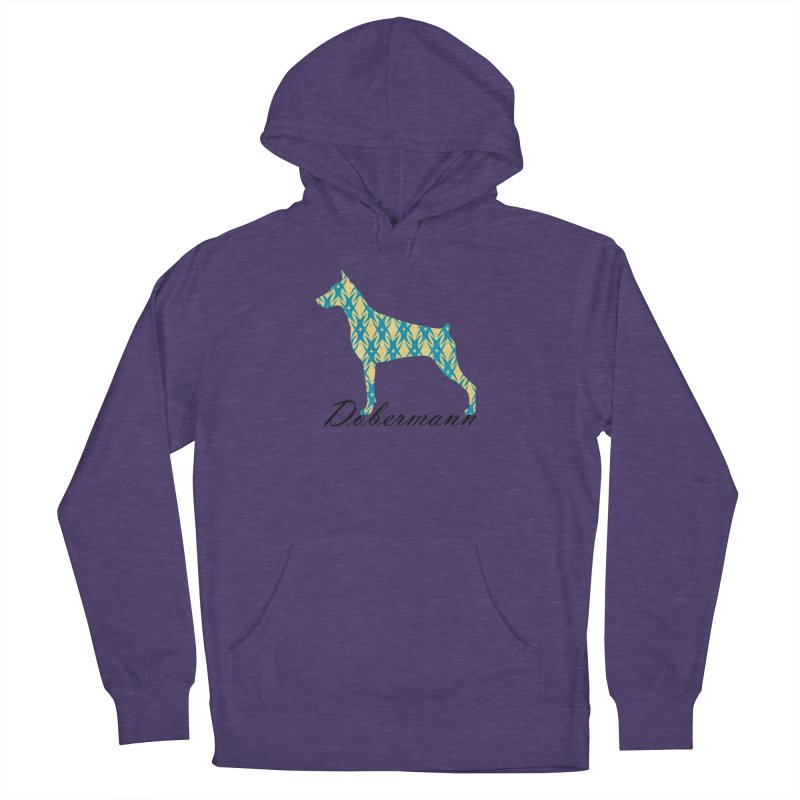 Dobermann Men's French Terry Pullover Hoody by ArtPharie's Artist Shop