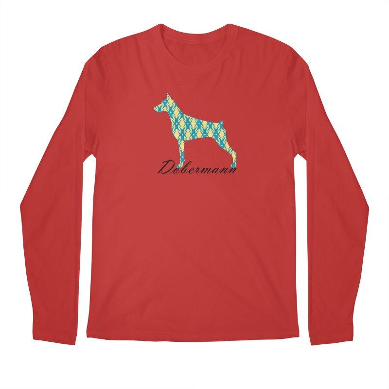 Dobermann Men's Regular Longsleeve T-Shirt by ArtPharie's Artist Shop