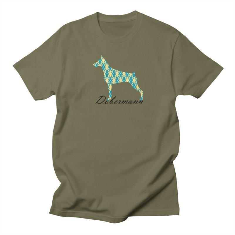 Dobermann Men's Regular T-Shirt by ArtPharie's Artist Shop