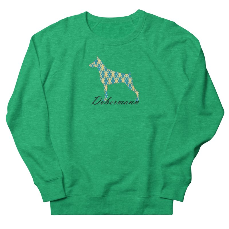 Dobermann Men's French Terry Sweatshirt by ArtPharie's Artist Shop