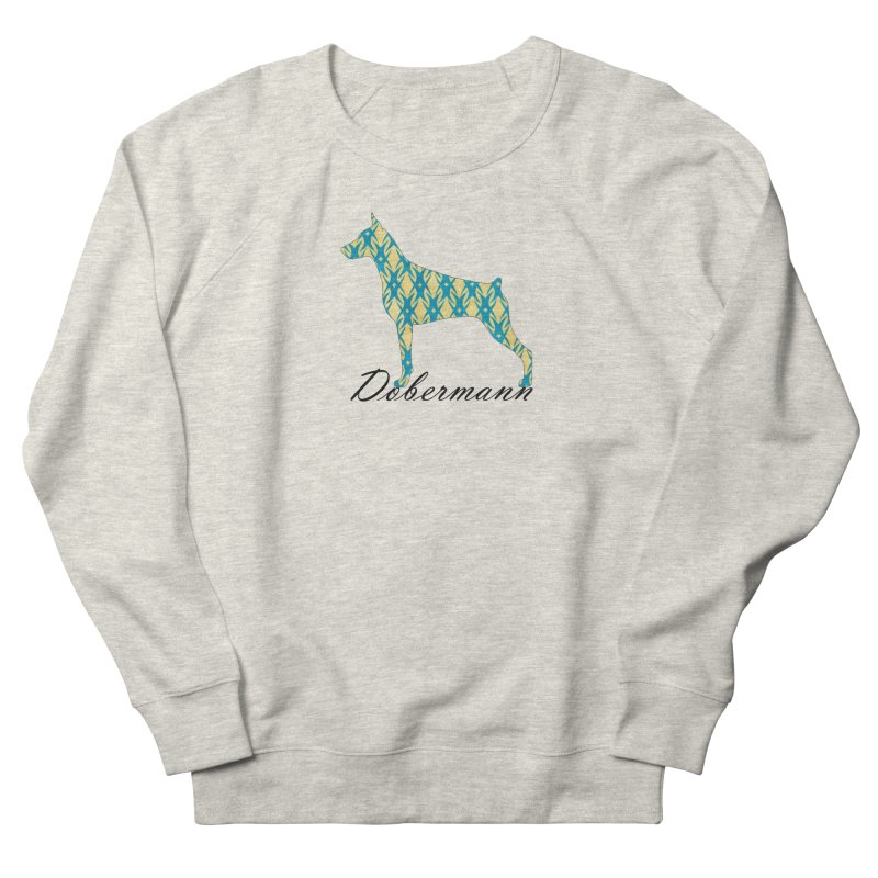 Dobermann Men's French Terry Sweatshirt by ArtPharie's Artist Shop