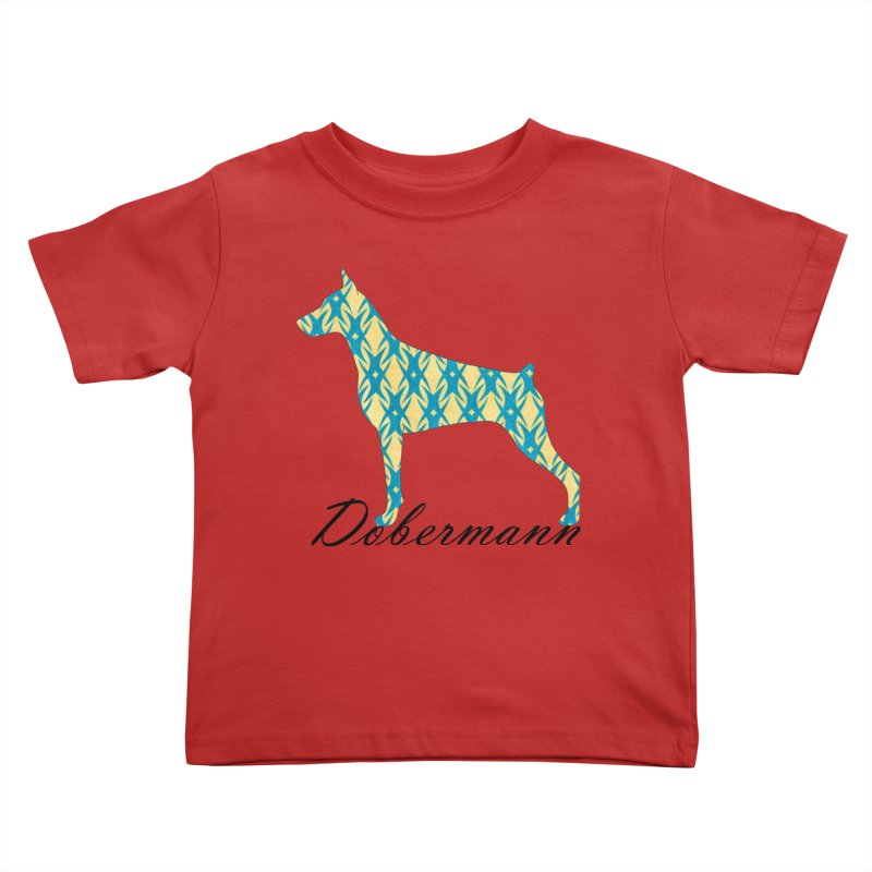 Dobermann Kids Toddler T-Shirt by ArtPharie's Artist Shop