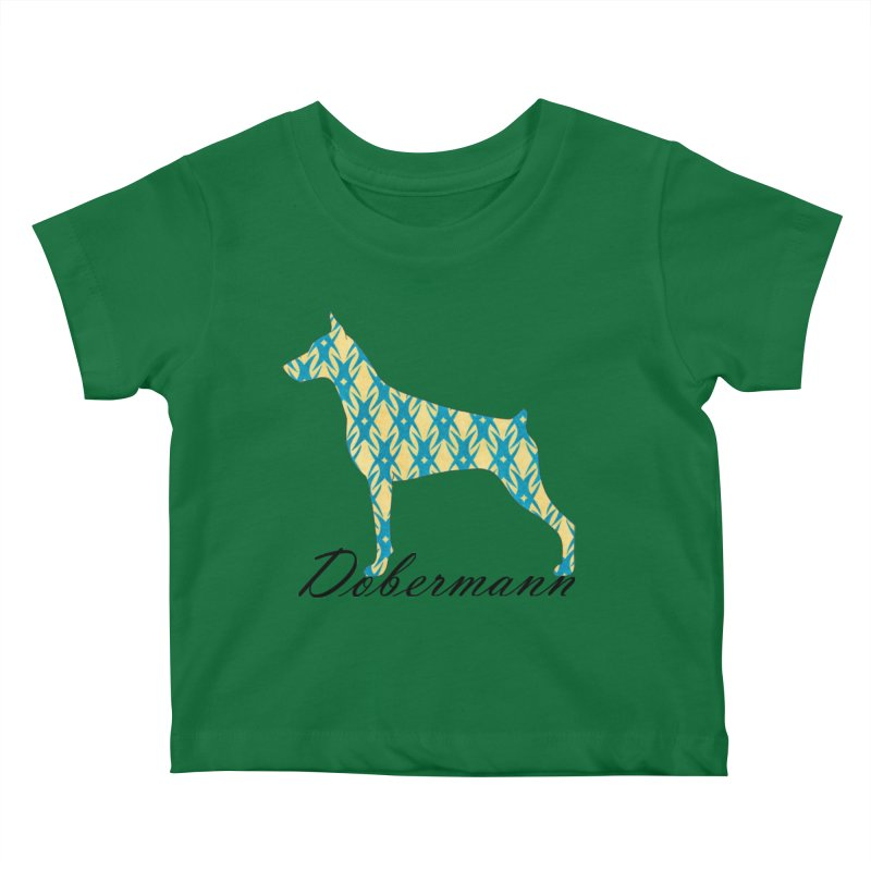 Dobermann Kids Baby T-Shirt by ArtPharie's Artist Shop