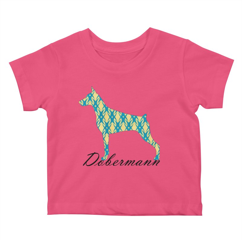 Dobermann Kids Baby T-Shirt by ArtPharie's Artist Shop