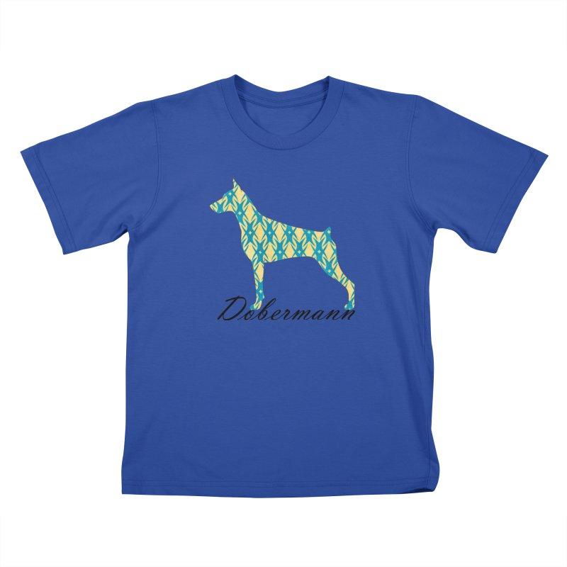 Dobermann Kids T-Shirt by ArtPharie's Artist Shop