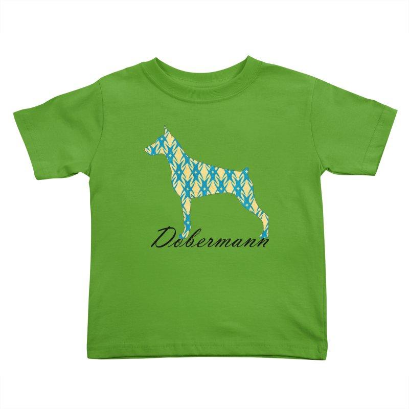 Dobermann Kids Toddler T-Shirt by ArtPharie's Artist Shop