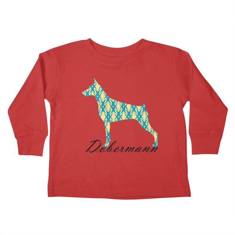 Dobermann Kids Toddler Longsleeve T-Shirt by ArtPharie's Artist Shop