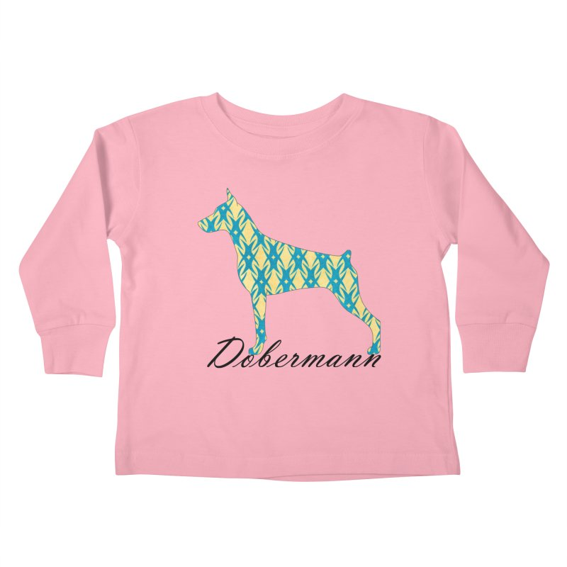 Dobermann Kids Toddler Longsleeve T-Shirt by ArtPharie's Artist Shop