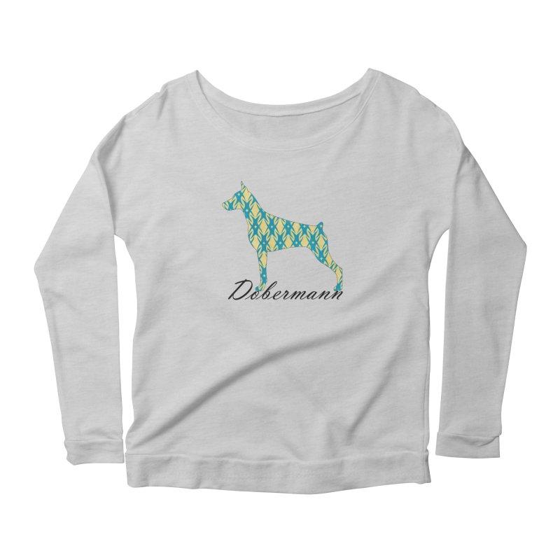 Dobermann Women's Scoop Neck Longsleeve T-Shirt by ArtPharie's Artist Shop