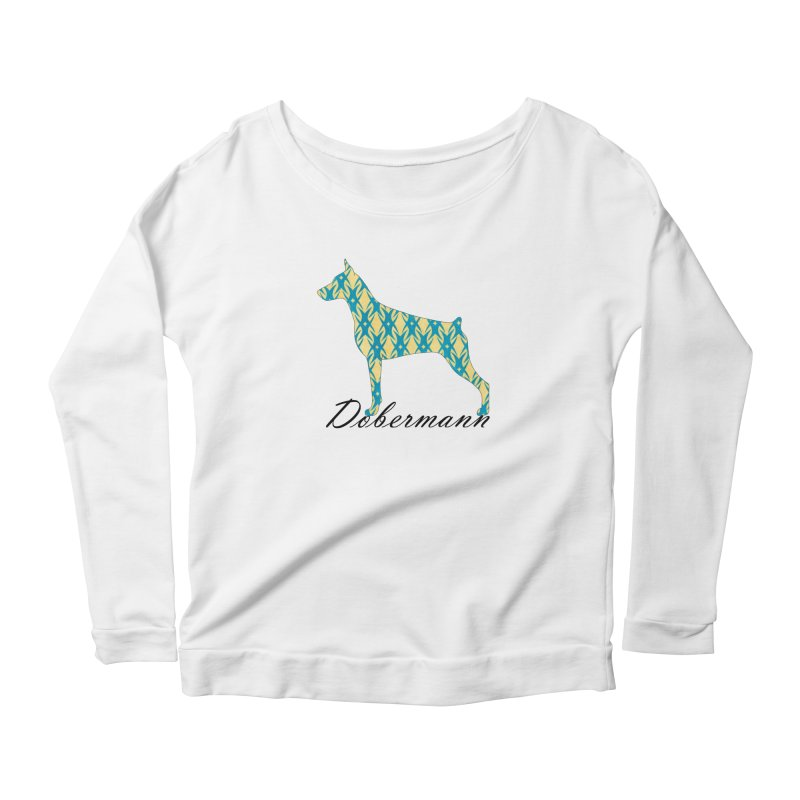 Dobermann Women's Scoop Neck Longsleeve T-Shirt by ArtPharie's Artist Shop
