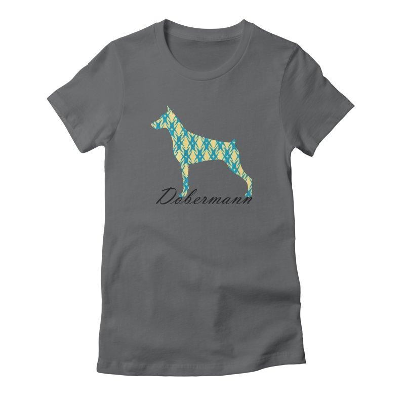 Dobermann Women's Fitted T-Shirt by ArtPharie's Artist Shop