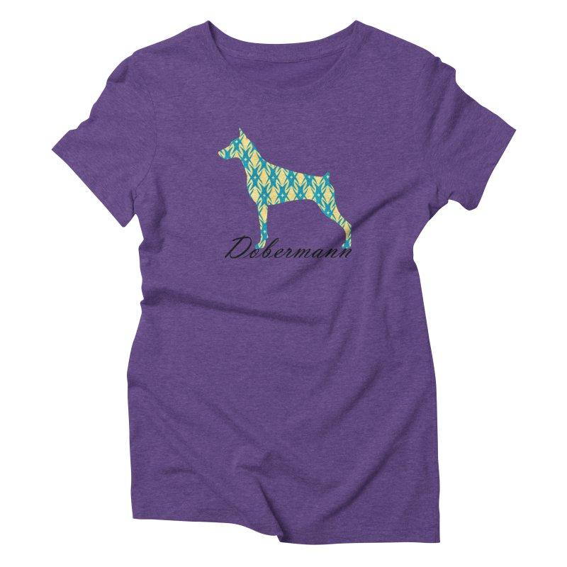 Dobermann Women's Triblend T-Shirt by ArtPharie's Artist Shop