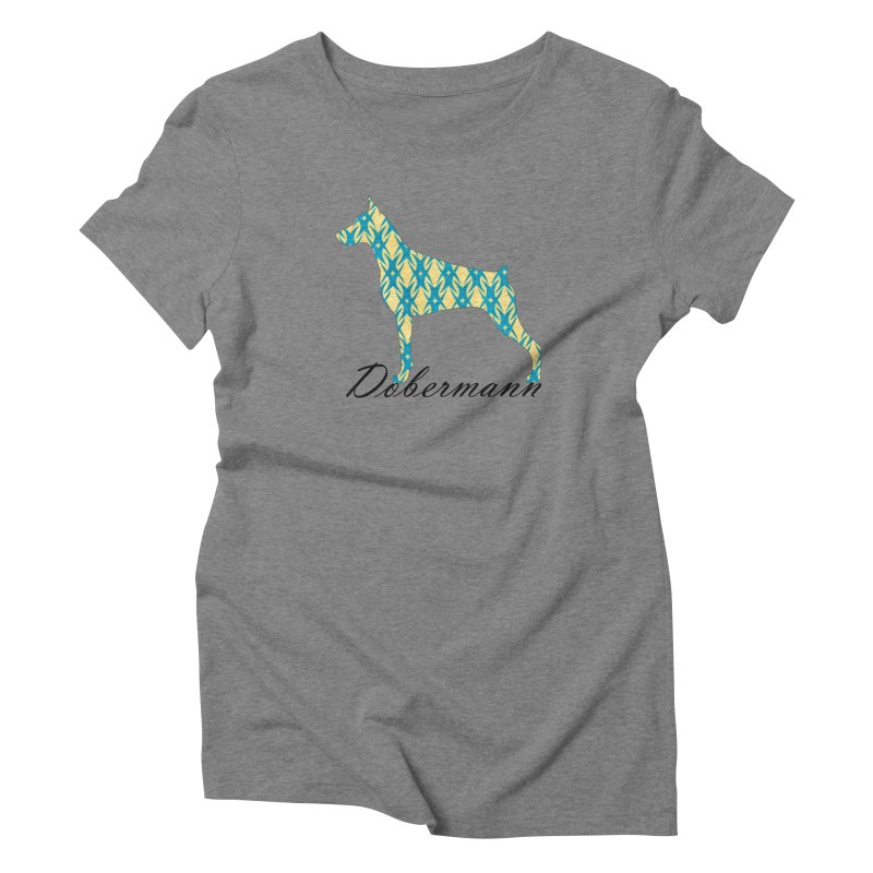 Dobermann Women's Triblend T-Shirt by ArtPharie's Artist Shop