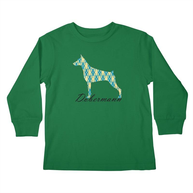 Dobermann Kids Longsleeve T-Shirt by ArtPharie's Artist Shop