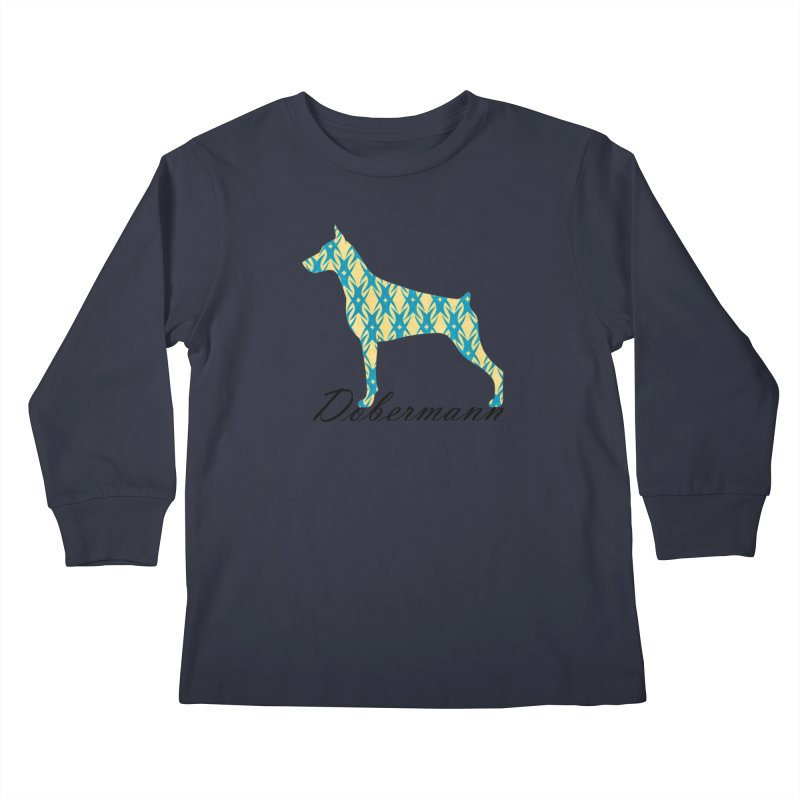 Dobermann Kids Longsleeve T-Shirt by ArtPharie's Artist Shop