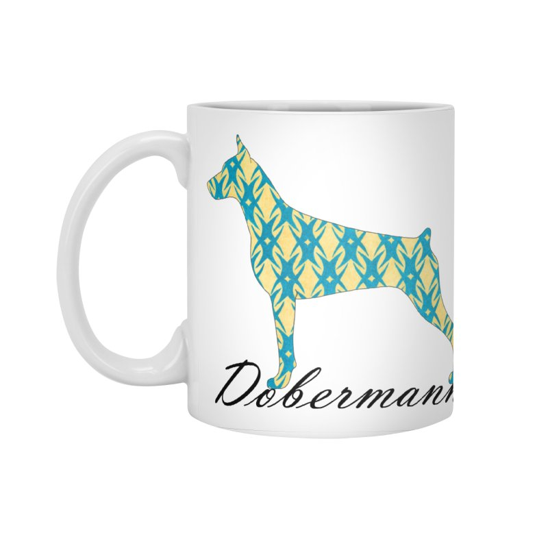 Dobermann Accessories Standard Mug by ArtPharie's Artist Shop