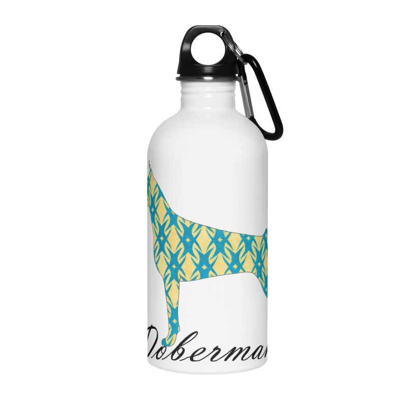Dobermann Accessories Water Bottle by ArtPharie's Artist Shop