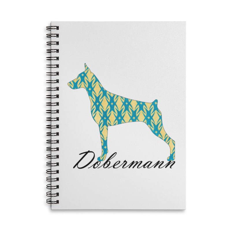 Dobermann Accessories Lined Spiral Notebook by ArtPharie's Artist Shop