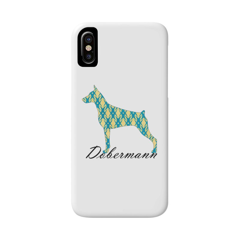 Dobermann Accessories Phone Case by ArtPharie's Artist Shop